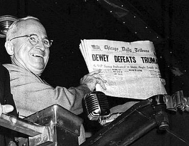 Трумэн, 1948 год, 3 ноября, выборы