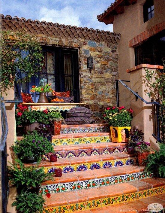 Мозаичная плитка в интерьере и экстерьере