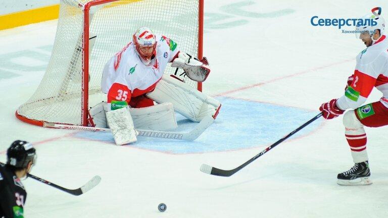 «Северсталь» vs «Спартак» 4:5 ОТ чемпионат КХЛ 2013-2014 (Фото)