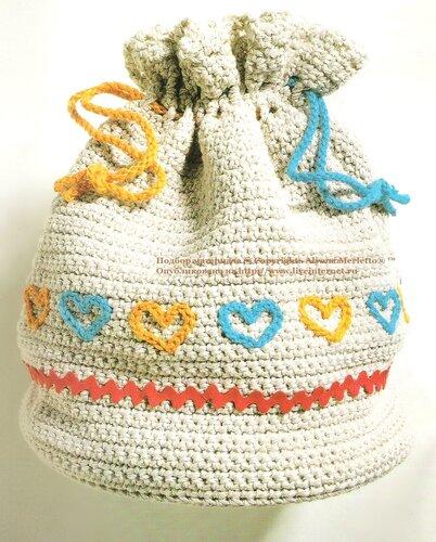 9969e4c0cc98 Сумка-мешок крючком ... от Crochet Creations (Франция). Обсуждение на  LiveInternet - Российский Сервис Онлайн-Дневников