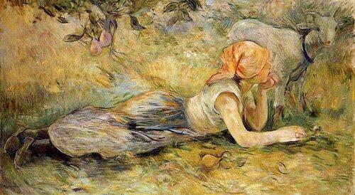 Берта Моризо. Лежащая пастушка. 1891.jpg
