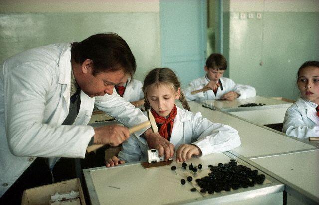 Schoolchildren Learning Assembly Techniques