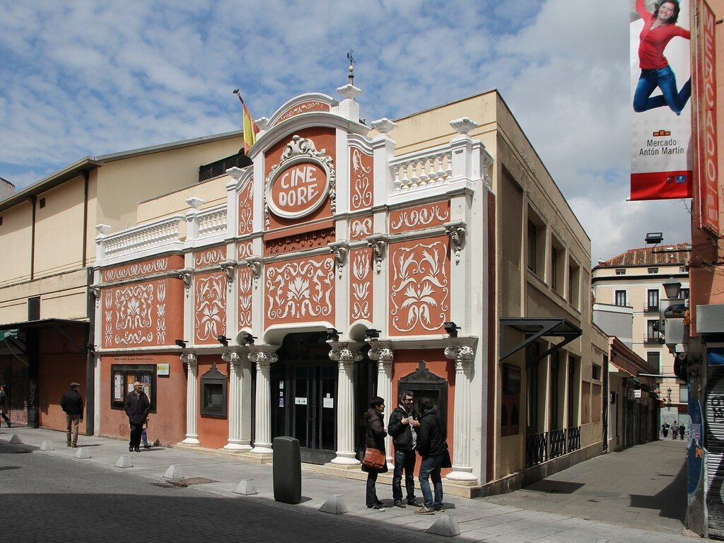 Madrid. Former cinema Dore (Cine Doré), film library of Spain