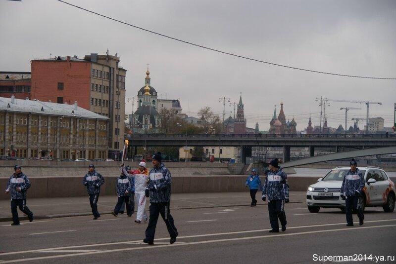 Эстафета Олимпийского огня в Москве