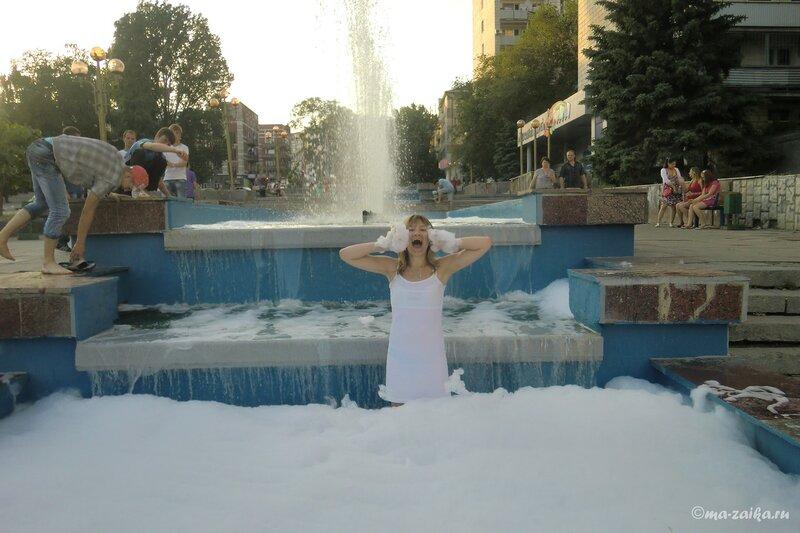 Фонтаны помыли, Саратов, 26 мая 2013 года