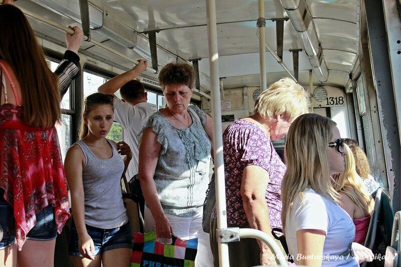 Поездка на трамвае, Саратов, 05 июля 2013 года