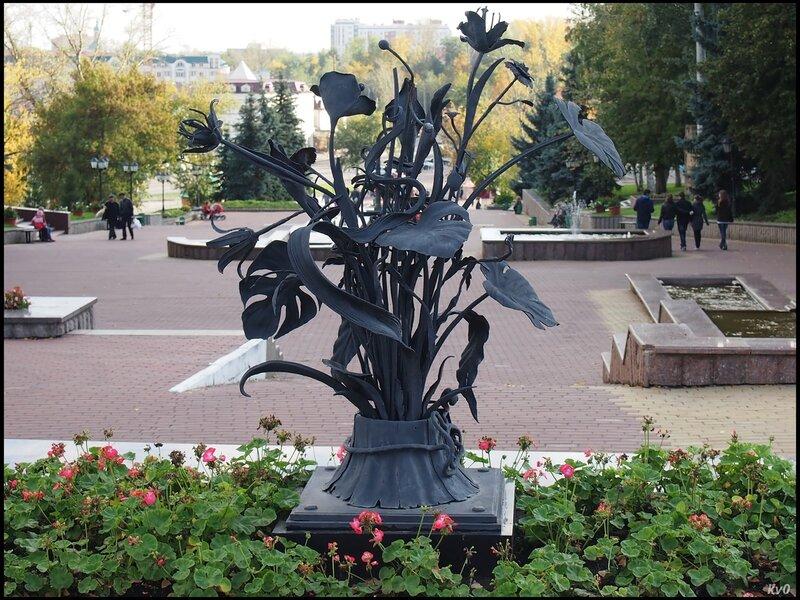 Скульптура на фонтанном спуске
