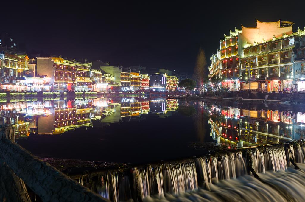 Фото 12. Вечерний город Фенгхуанг. Отчет о самостоятельном экскурсионном туре в Китай