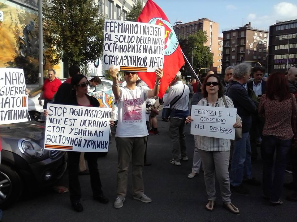 милан, акция против фашизма на украине