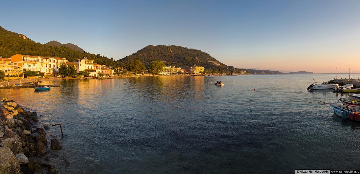 Беницес, панорама берега с пирса