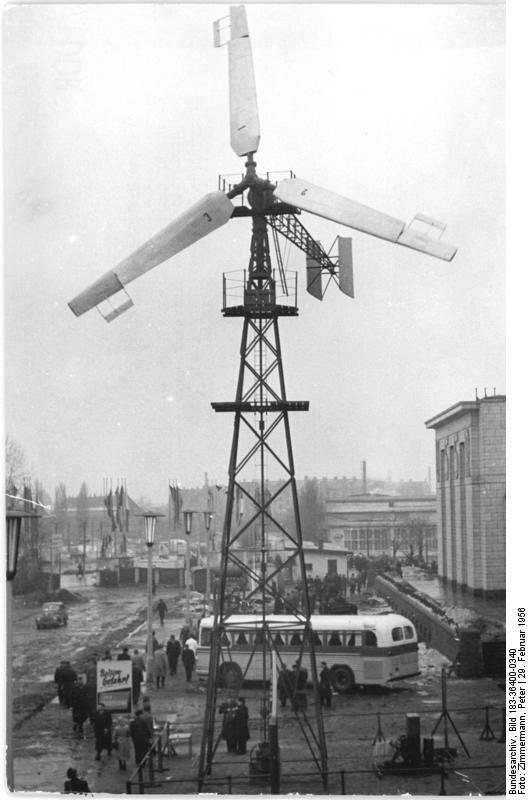 Leipzig, Frьhjahrsmesse, Windmotor D-12