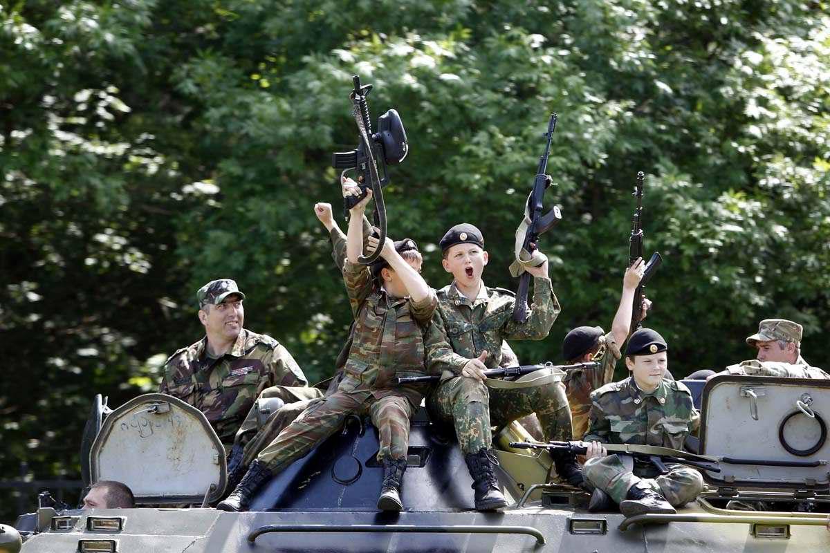 Последний звонок в Ставропольской кадетской школе (1)