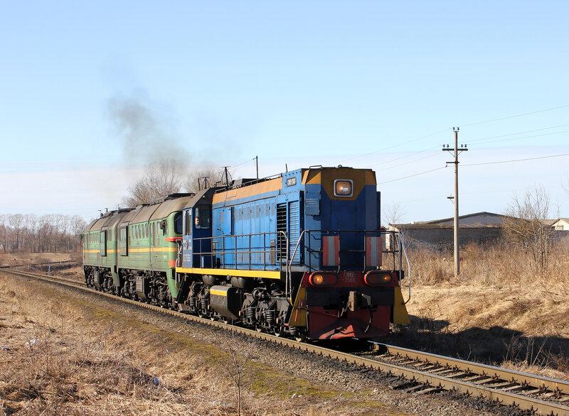 ТЭМ2-7506 и 2М62-0819