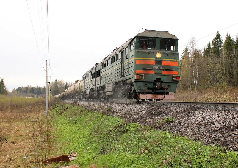 2ТЭ116-1508 на перегоне Муриково - Шаховская