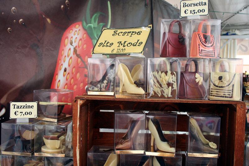 Шоколадные  сумочки и туфли