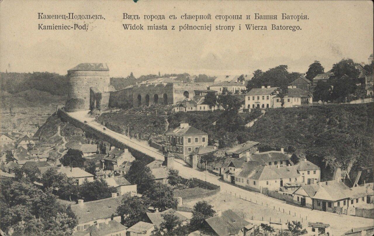 Вид города с северной стороны. Башня Батория