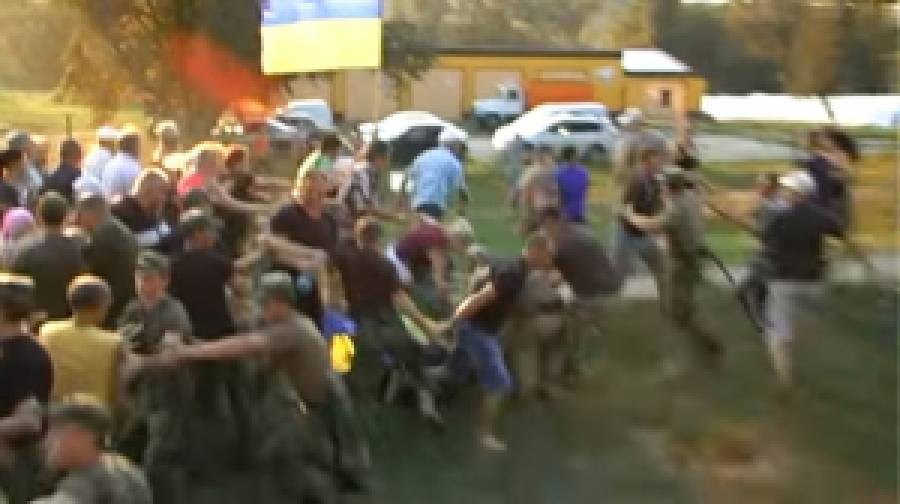Противостояние на Полтавщине: пролилась кровь