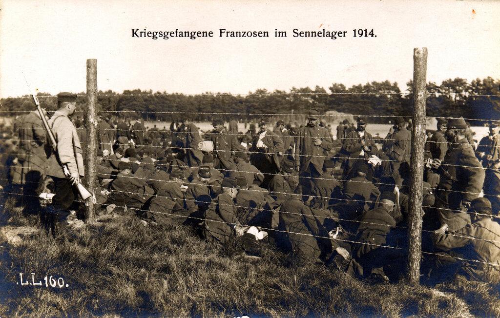 Kriegsgefangene Franzosen im Sennelager 1914