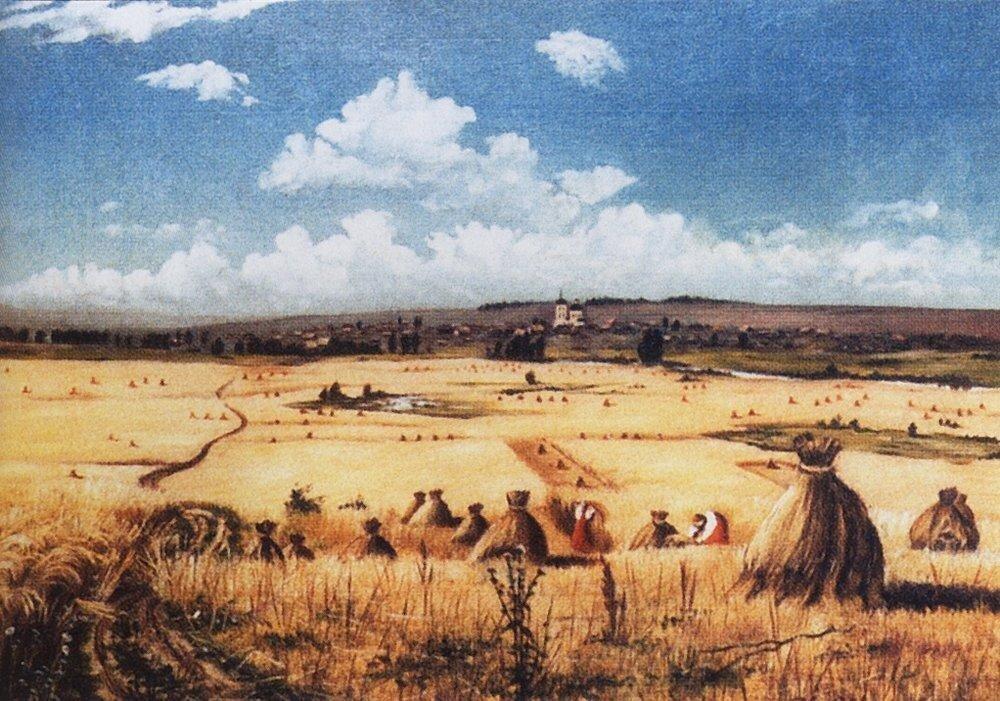 Шишкин Иван Иванович. Жатва, 1850 год.