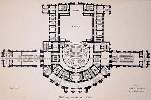 Бургтеатр в Вене, план