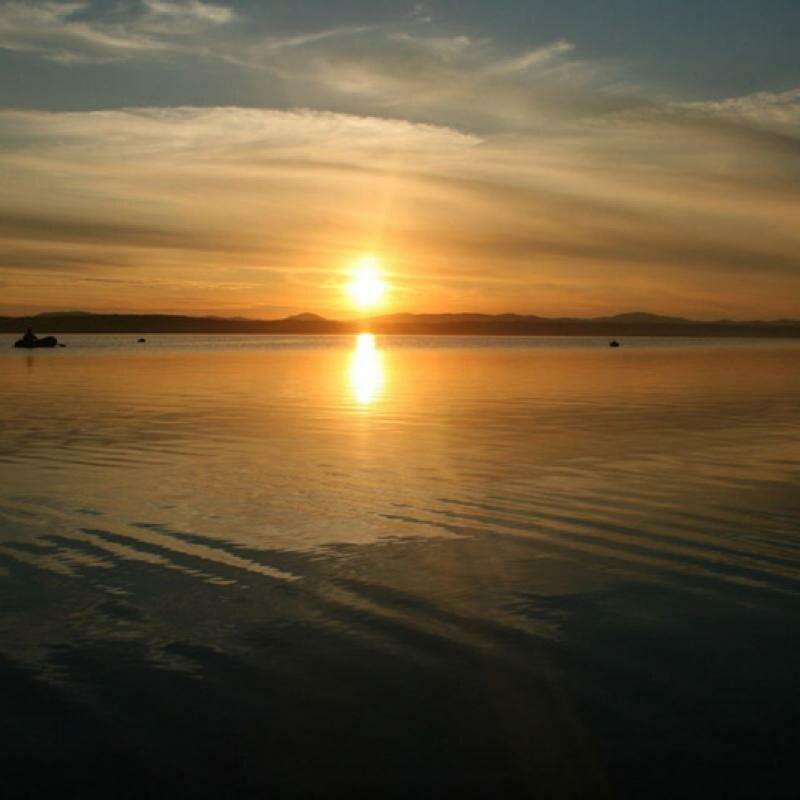 Закат на озере Увильды (17.06.2013)