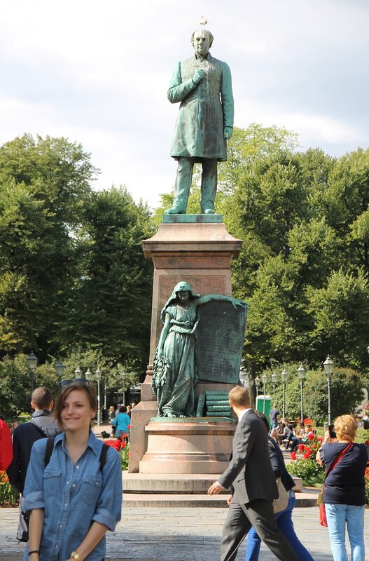 Helsinki. Esplanade. The statue of Johan Ludwig Runeberg