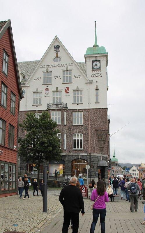 Берген,  набережная. Bryggen, Bergen,