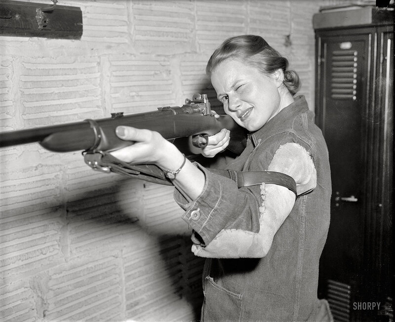April 6, 1939. Co-ed queen of rifle shooters. Jean Yocum, George Washington University co-ed, has won the Women's Individual Intercollegiate Rifle Championship, according to the National Rifle Association