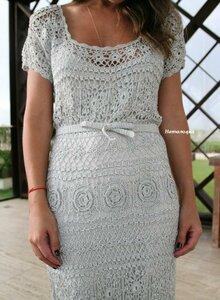 钩针长裙(190) - 柳芯飘雪 - 柳芯飘雪的博客