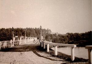 Вид моста через реку вблизи охотничьего домика,где останавливалась императорская семья.