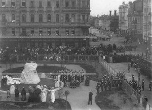 Открытие памятника подвигам Саперного батальона .