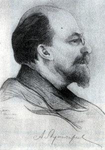 А. В. Луначарский. Рисунок И. И. Бродского. 1920 г