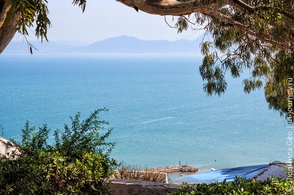 вид на море в Сиди-бу-Саид
