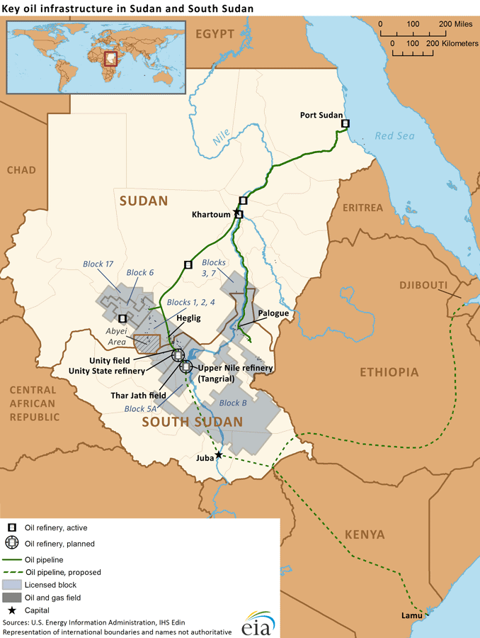 eia.gov: Sudan and South Sudan