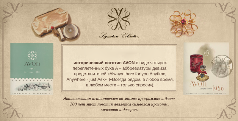 исторический логотип avon