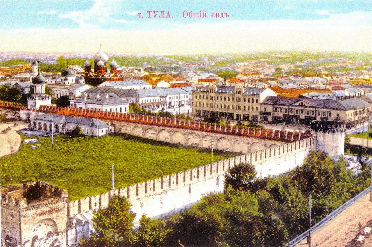 Общий вид с колокольни Казанской церкви