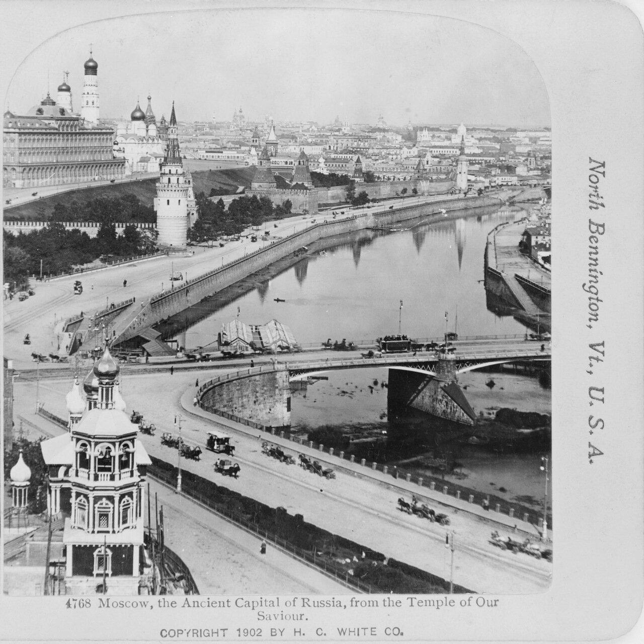 Вид на Кремль с храма Христа Спасителя