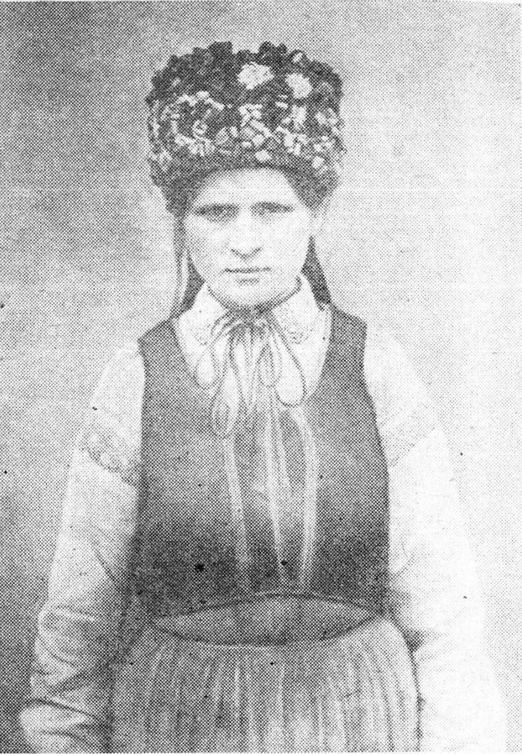 Белорусская невеста в венке. Игуменский уезд Минская губ. 1904