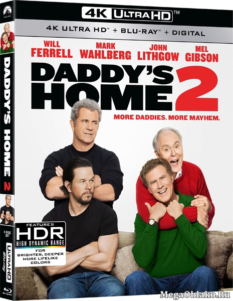 Здравствуй, папа, Новый год! 2 / Daddy's Home 2 (2017) | UltraHD 4K 2160p