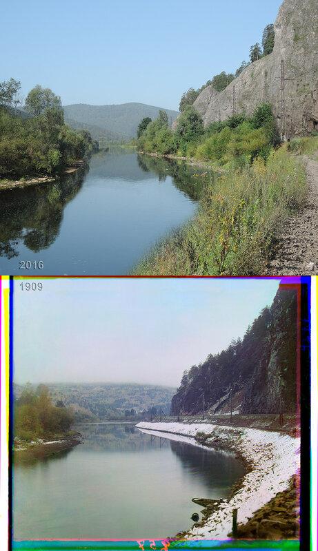Закругление железнодорожного пути у ст. Вязовой. 12 сентября 1909 года.