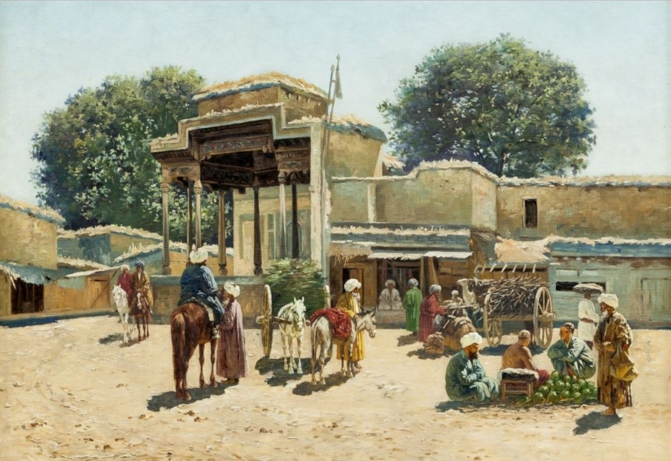 Торговая площадь в старом городе