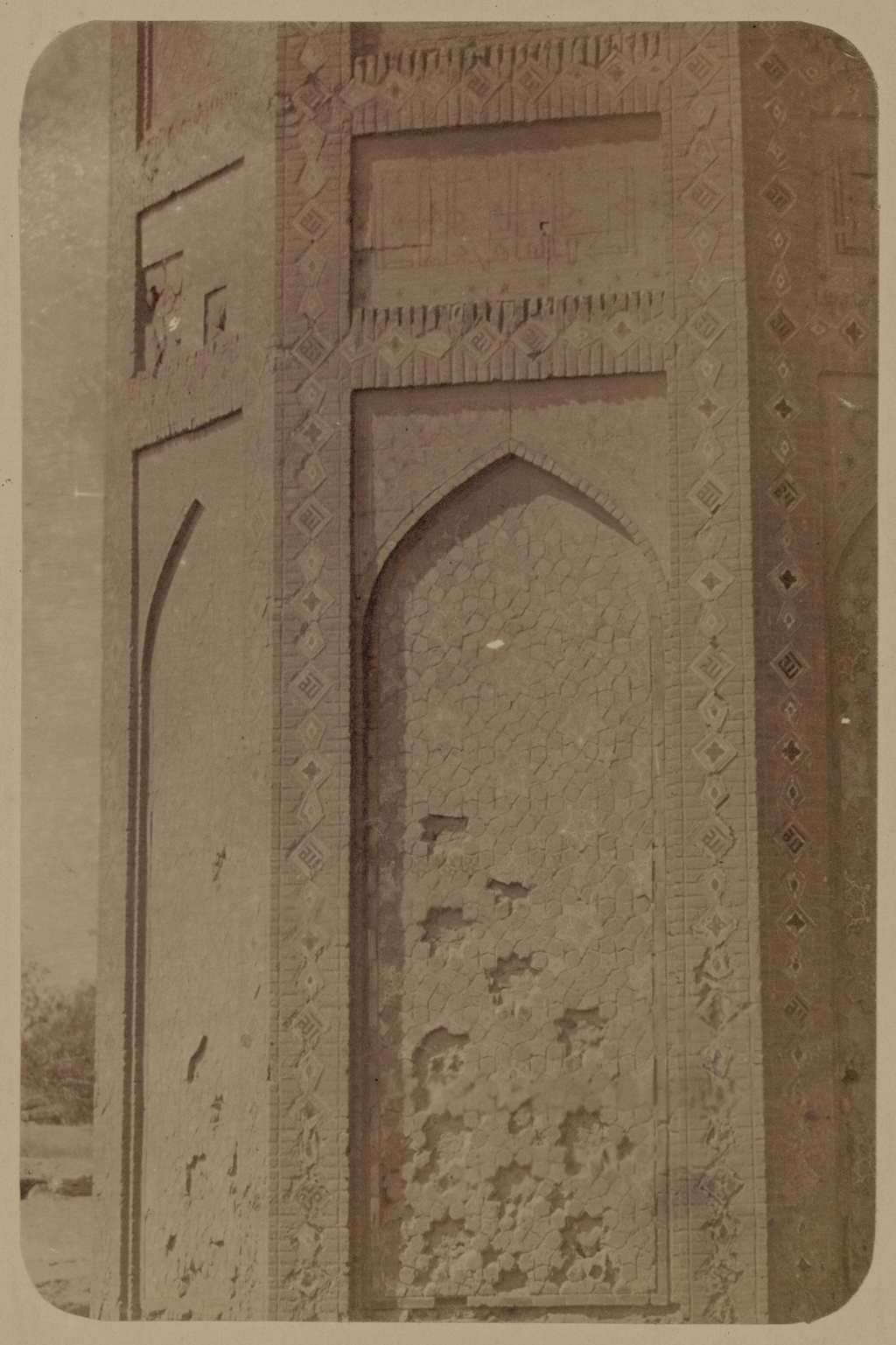 Медресе Биби Ханым. Соборная мечеть. Одна из надписей на главной нише