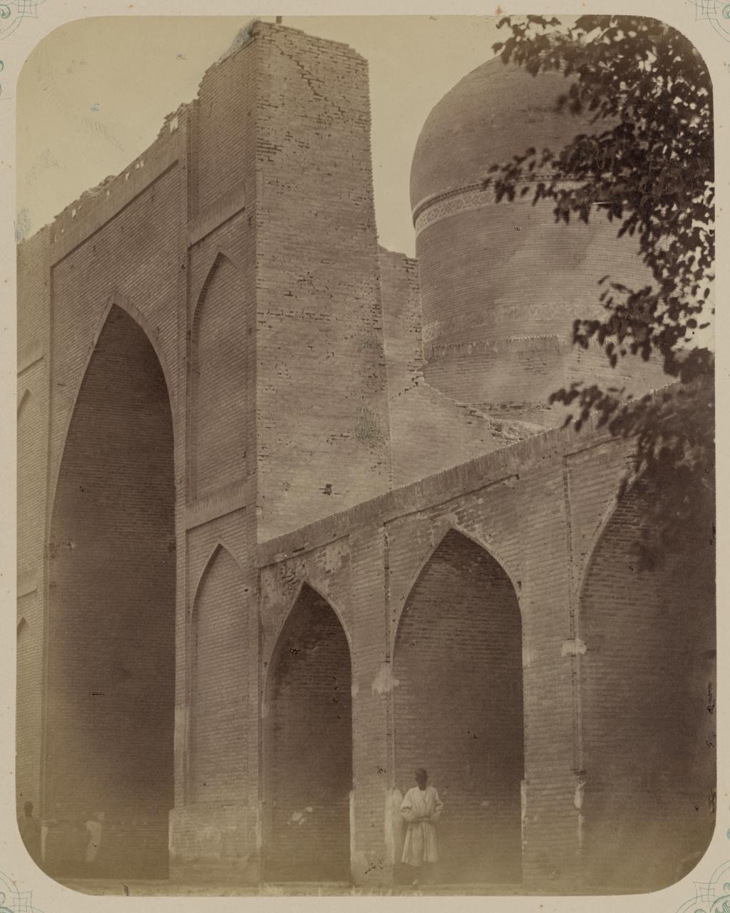 Мечеть Намазга. Часть главного фасада