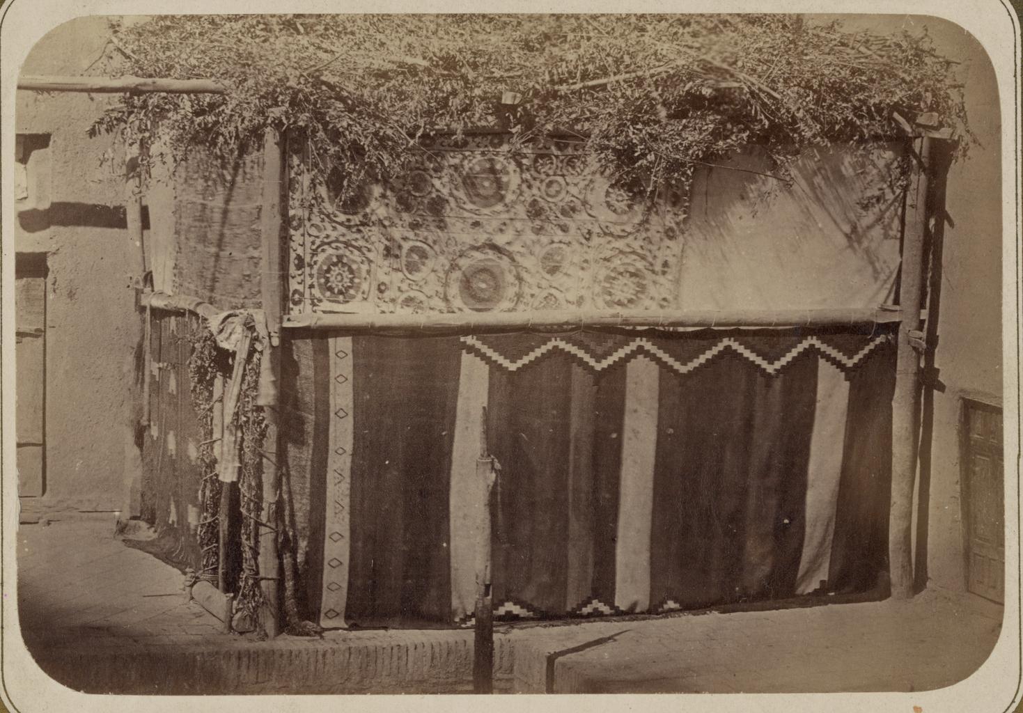 Еврейские обычаи. Внешний вид праздничного шатра (сукка)