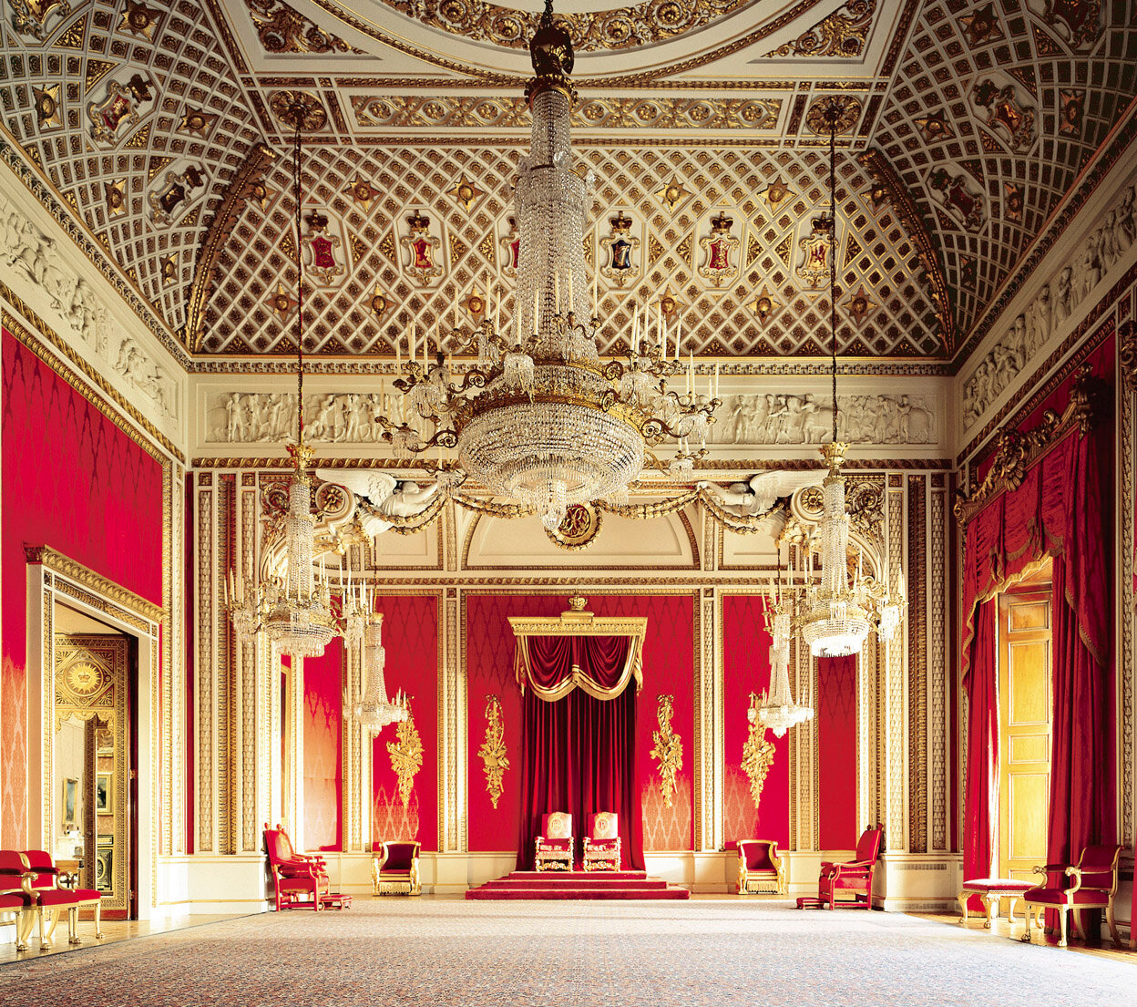 The Throne Room<br/>The State Rooms, Buckingham Palace <br/><br/>Credit line:The Royal Collection (c) 2009, Her Majesty Queen Elizabeth II <br/>Photographer: Derry Moore<br/><br/>This photograph is issued to