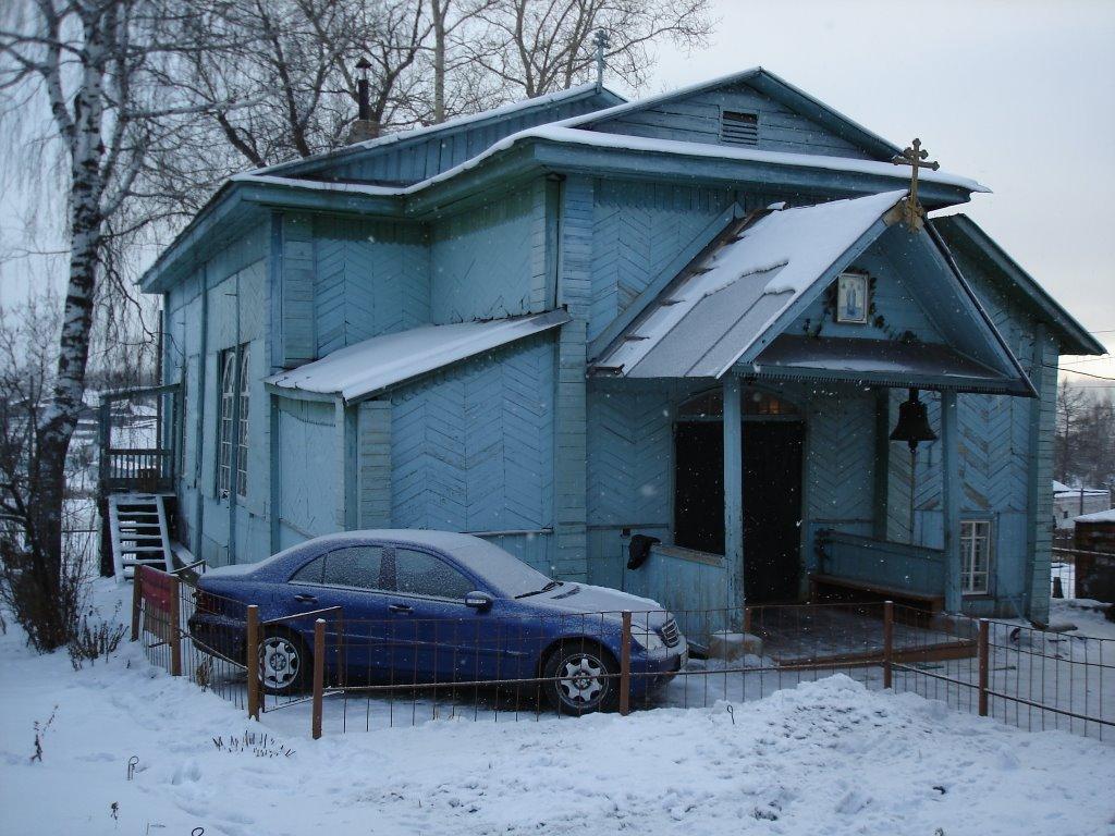 Достопримечательность Бердяуша - деревянная церковь дореволюционой постройки. Так она выглядела несколько лет назад (03.07.2014)