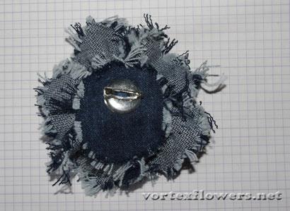 Как сшить розу из джинсовой ткани