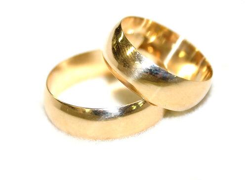 Обручальные кольца, круглый профиль