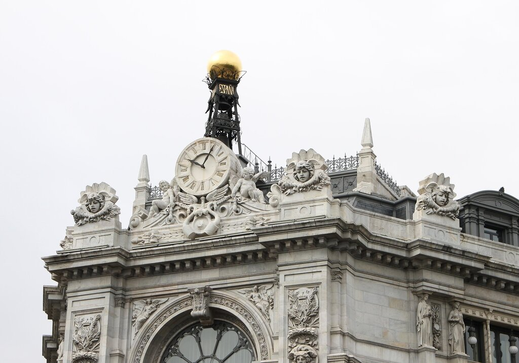 Мадрид. Здание Банка Испании (Banco de España). Фронтон