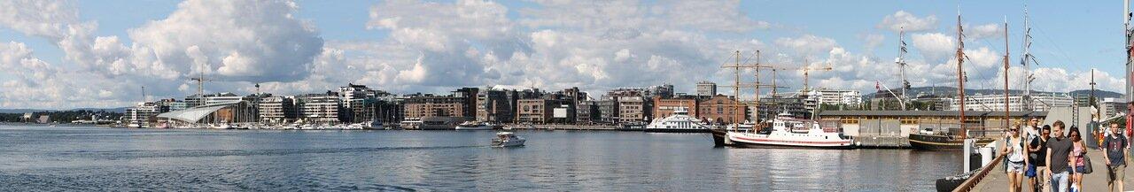 Осло, гавань, Oslo, harbor, panorama